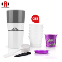 Portable Travel Outdoor Mug 400 ML Ice Drip Coffee Maker Multifuction Coffee Pot 1 Pcs Reusable