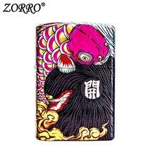 Zorro Cool Lighter Kerosene windproof lighter personality creative gift unique cool cigarette  lighter moonlight sword creative windproof lighter bronze