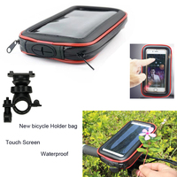 Touch Screen Bicycle Motocycle Bike Mobile Phone Holders Case Bags For Galaxy Note8 S8 S8 Plus