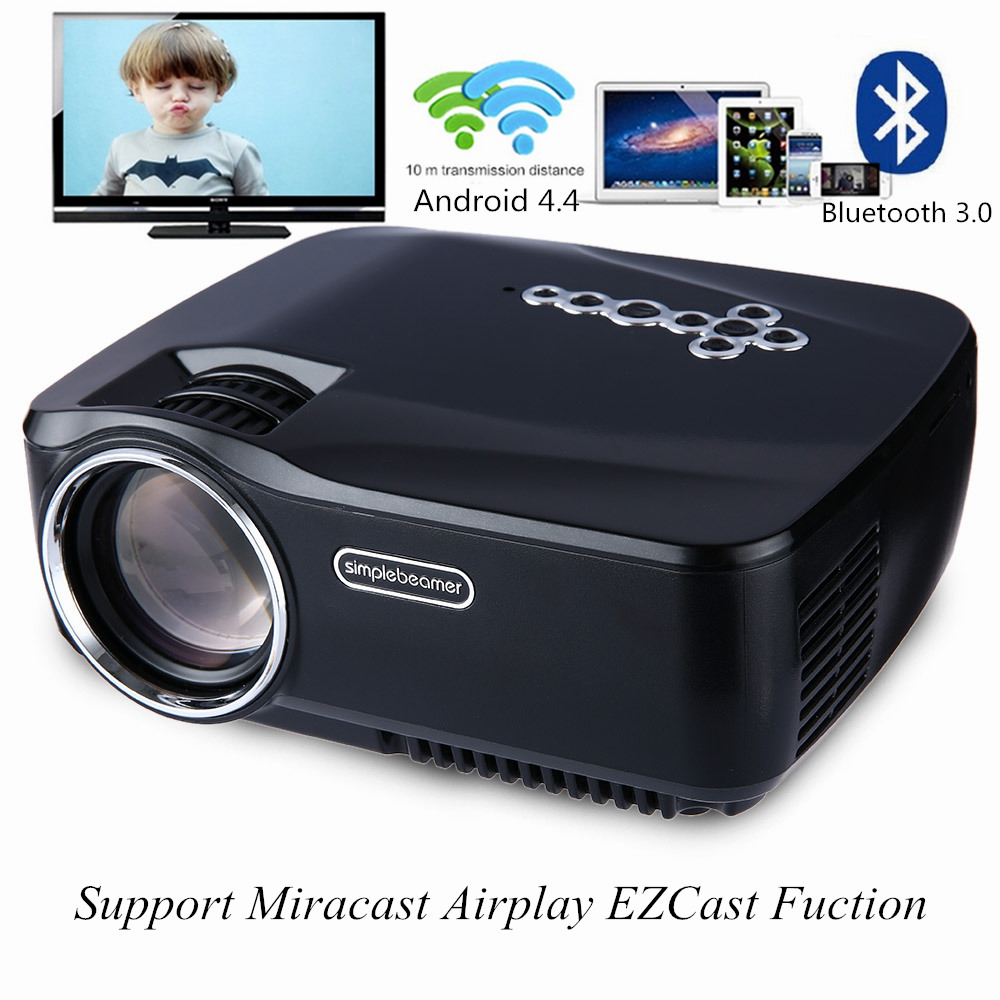 GP 70UP LED Projector Android 4 4 Tv box tv Full HD DLAN WIFI BT 3