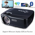 GP-70UP LED Projector Android 4.4 Tv box tv Full HD DLAN WIFI BT 3.0 Support Miracast Airplay EZCast Multilanguage Beamer