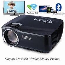 GP-70UP СВЕТОДИОДНЫЙ Проектор Android 4.4 Tv box tv Full HD DLAN WIFI BT 3.0 Поддержка Miracast Airplay EZCast Многоязычный Проектор GP70UP