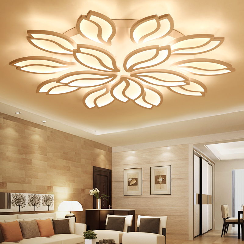Modern Acrylic Led Ceiling Lights Surface Mount Art Hanging Light Fixtures Free Shipping For Living room Bedroom Dining room
