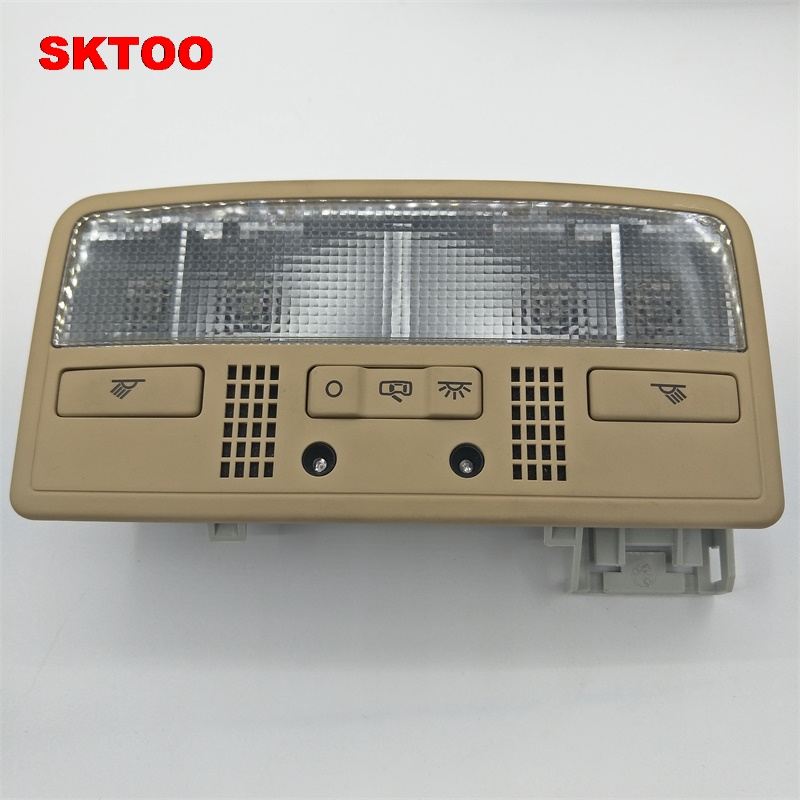 SKTOO for VW Passat B5 for Skoda Octavia Combi Interior Dome Light Reading Lamp Beige Color 3BD 947 105 2EN H67 7R3 car usb sd aux adapter digital music changer mp3 converter for skoda octavia 2007 2011 fits select oem radios