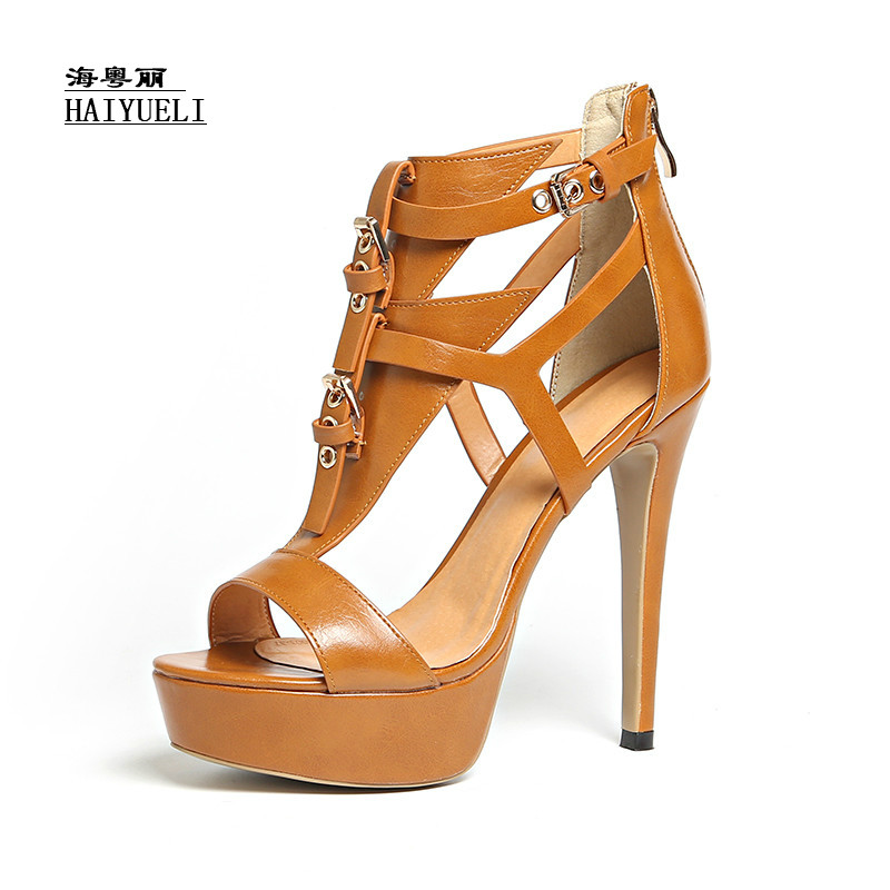 Top Product Women Shoes Genuine Leather Pure Handmade High-heeled Sandals Shoes Luxury Sexy Shoes 2017the mostfashion trends european and american brands genuine flowers ladies luxury short shoes club sexy women s shoes