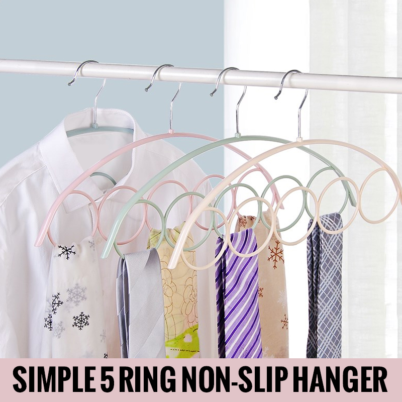 Plastic Convenient Scarf Rack Clothes 3 Colors 5-Hole Scarf Rack Plastic Belt Racks ρολογια τοιχου κλασικα ξυλου