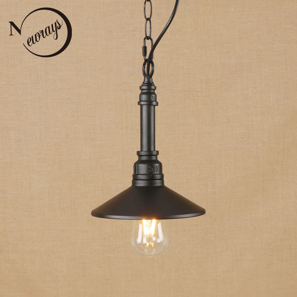 цена на Vintage iron painted hang lamp LED Pendant Light Fixture E27 110V 220V For Kitchen study dining room bed room office cafe bar