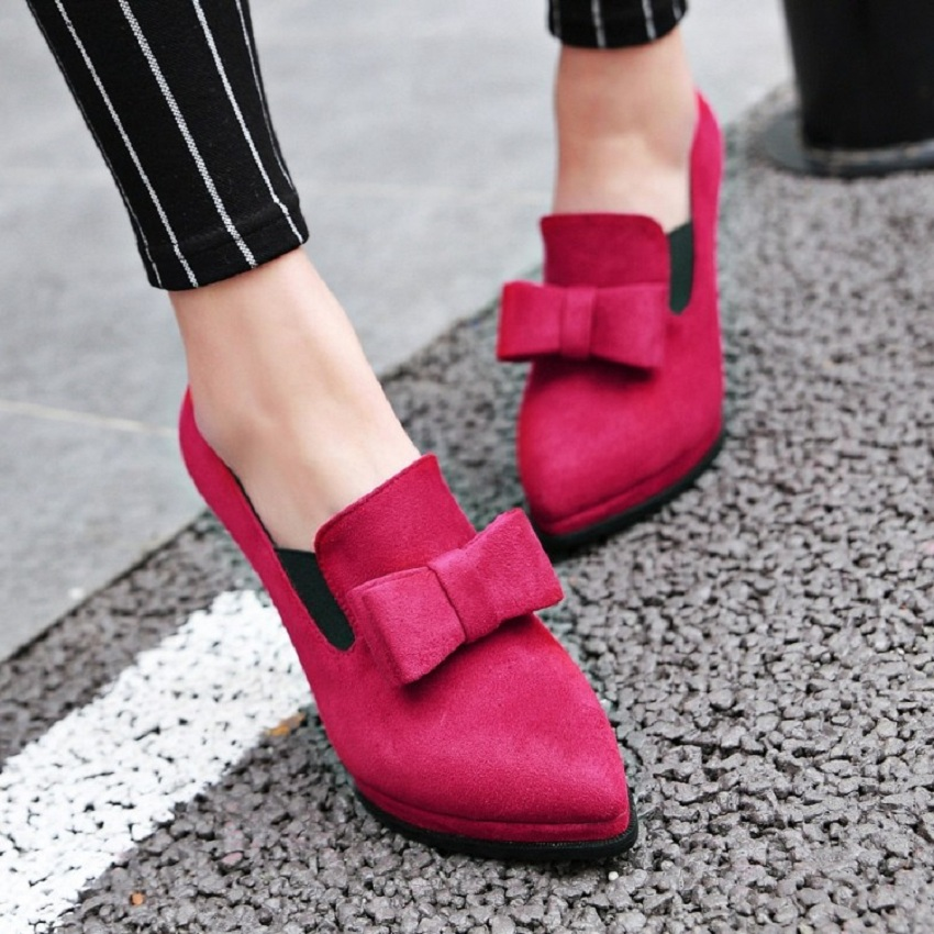 Fashion spring/autumn shoes woman super high heel thin heels pointed toe women's shoes flock butterfly-knot 43 red wedding shoes spring autumn shoes woman pointed toe metal buckle shallow 11 plus size thick heels shoes sexy career super high heel shoes