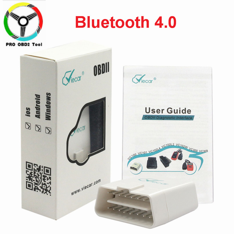 New Viecar ELM327 Bluetooth 4.0 V1.5 OBD2 Car Diagnostic Tool ELM 327 V1.5 OBDII J1850 OBD Cars Scanner For ios Android Window(China)