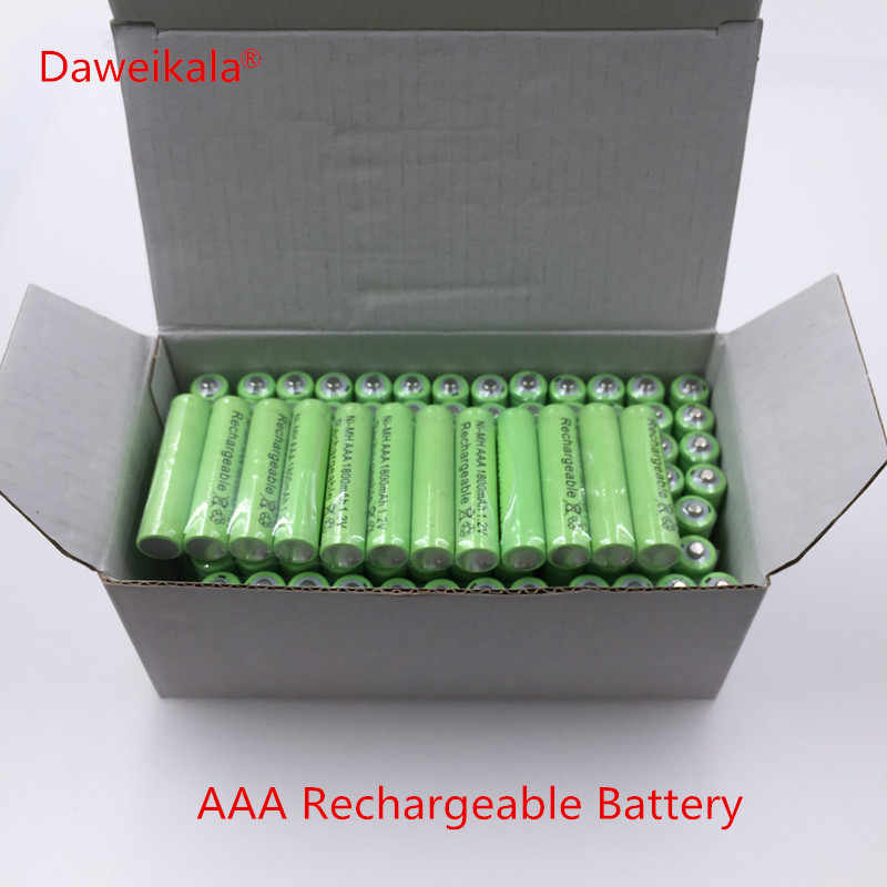 Free shipping AAA 1800mAh 1.2 V Quanlity Rechargeable Battery NI-MH 1.2V Rechargeable 2A Battery Baterias Bateria