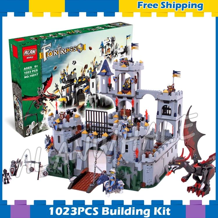 1023pcs Kingdoms Knights King's Castle Siege 16017 Model Building Gifts sets Blocks Assemble Children Compatible With Lego adriatica 1023 1233q