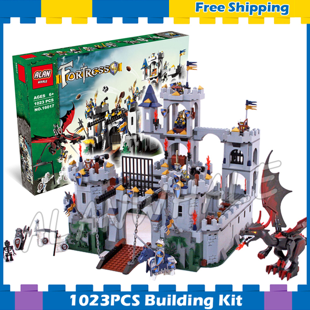 1023pcs Kingdoms Knights Kings Castle Siege 16017 Model Building