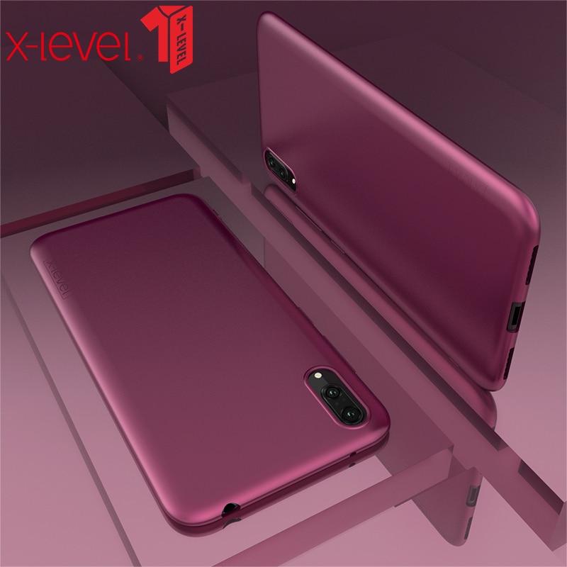 X-Level чехол для huawei Y7 Pro Y7 Prime Y9 2019 Super Light Micro матовый мягкий термополиуретан задняя крышка чехол для телефона чехол для huawei Honor 10 Lite