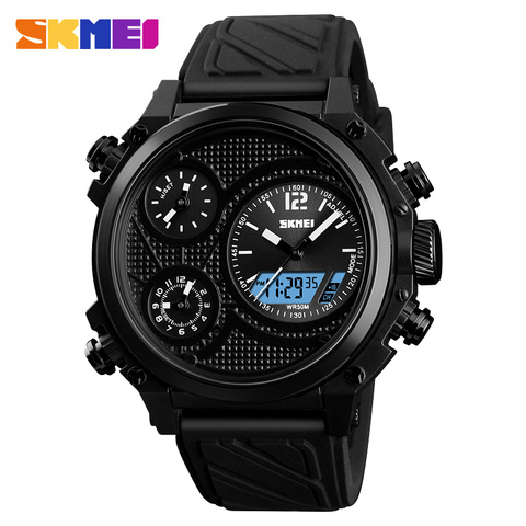 SKMEI Brand Sports Watches Mens Top Brand Luxury Waterproof Men Wrist Watch 5 Time Alarm Chronograph Military Wristwatches Clock Lahore