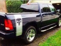 משלוח חינם 2x המעניש גולגולת מדבקות לרכב מדבקות מדבקת גרפיקה מיטת מיטת משאית למשאית לדודג 'ראם פורד ראפטור
