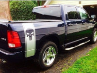 2x PUNISHER Skull Car Stickers For Truck Bed For Dodge Ram Decals Sticker Graphics For Truck