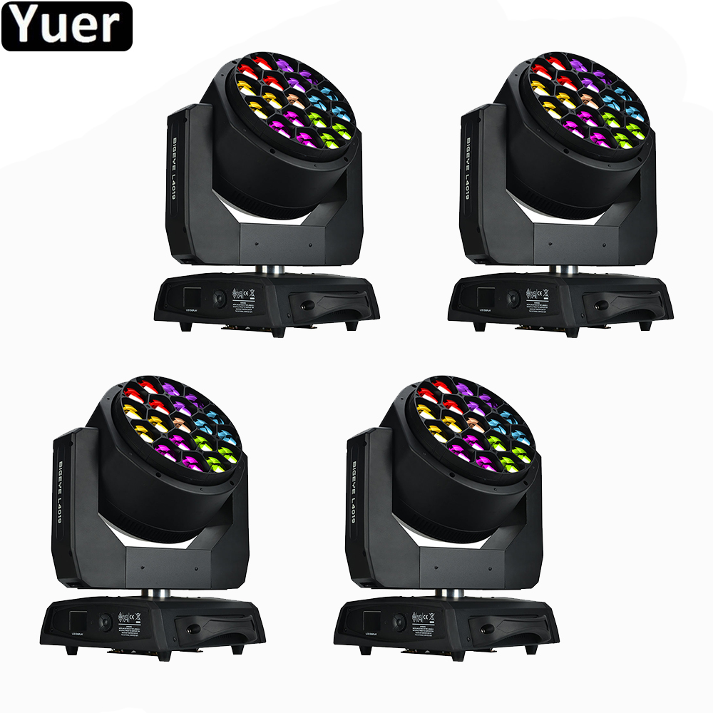 4Pcs/Lot High Bright 19x40W RGBW 4IN1 LED Moving Head Light DMX512 DJ Disco Stage Light For Party Nightclub Bar Music Lights