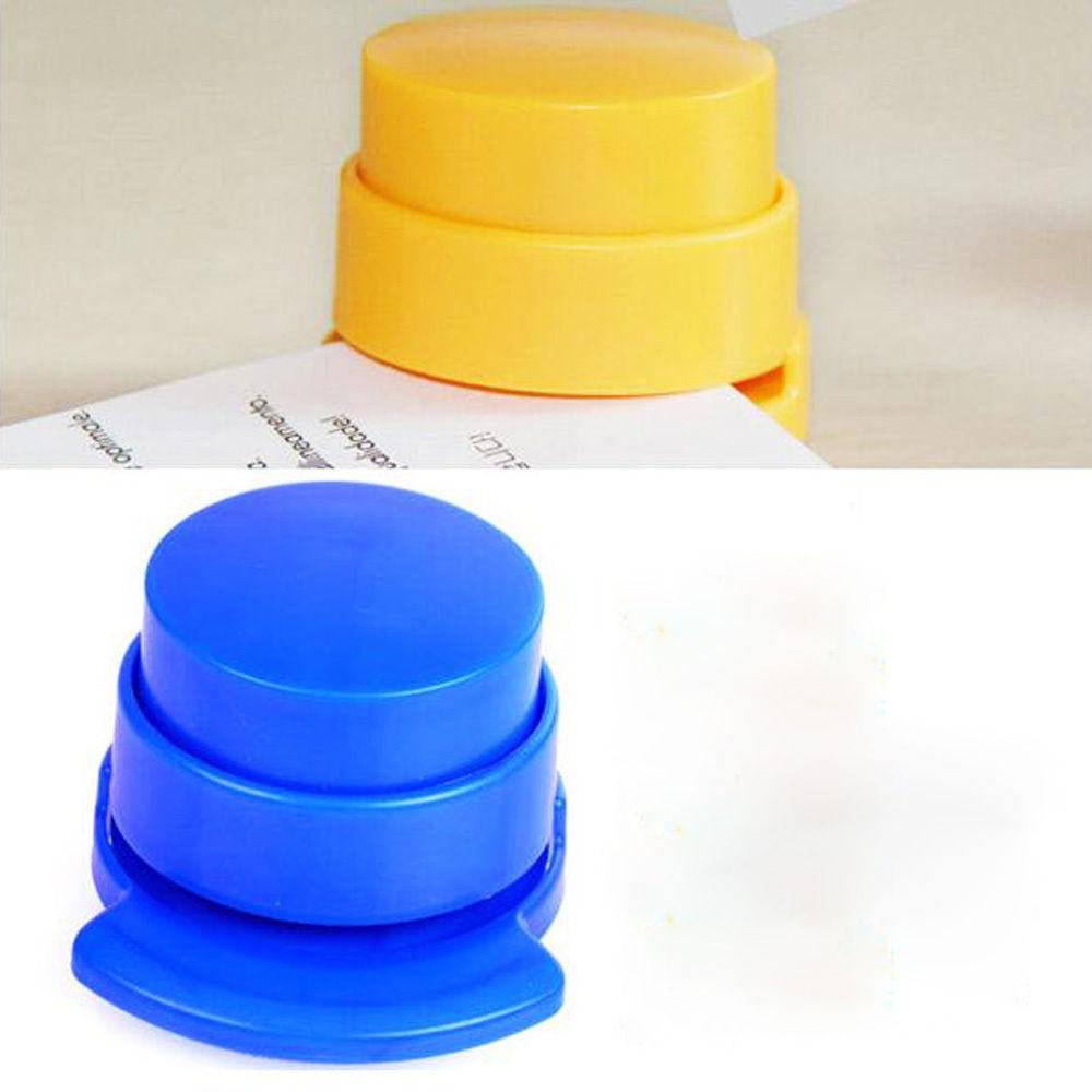 Practical Staple Free Stapler Paper Binding Binder Stapless Stationery School Office Supplies