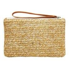 Женский клатч из ротанга, женская соломенная сумка, богемные пляжные вечерние сумки, женская сумка, тканевая Сумочка, дамская сумочка