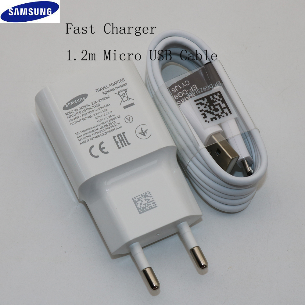 Samsung Micro-Usb-Cable Wall-Adapter Charge S7-Edge Travel Galaxy Note 1 For S6 J3 J5