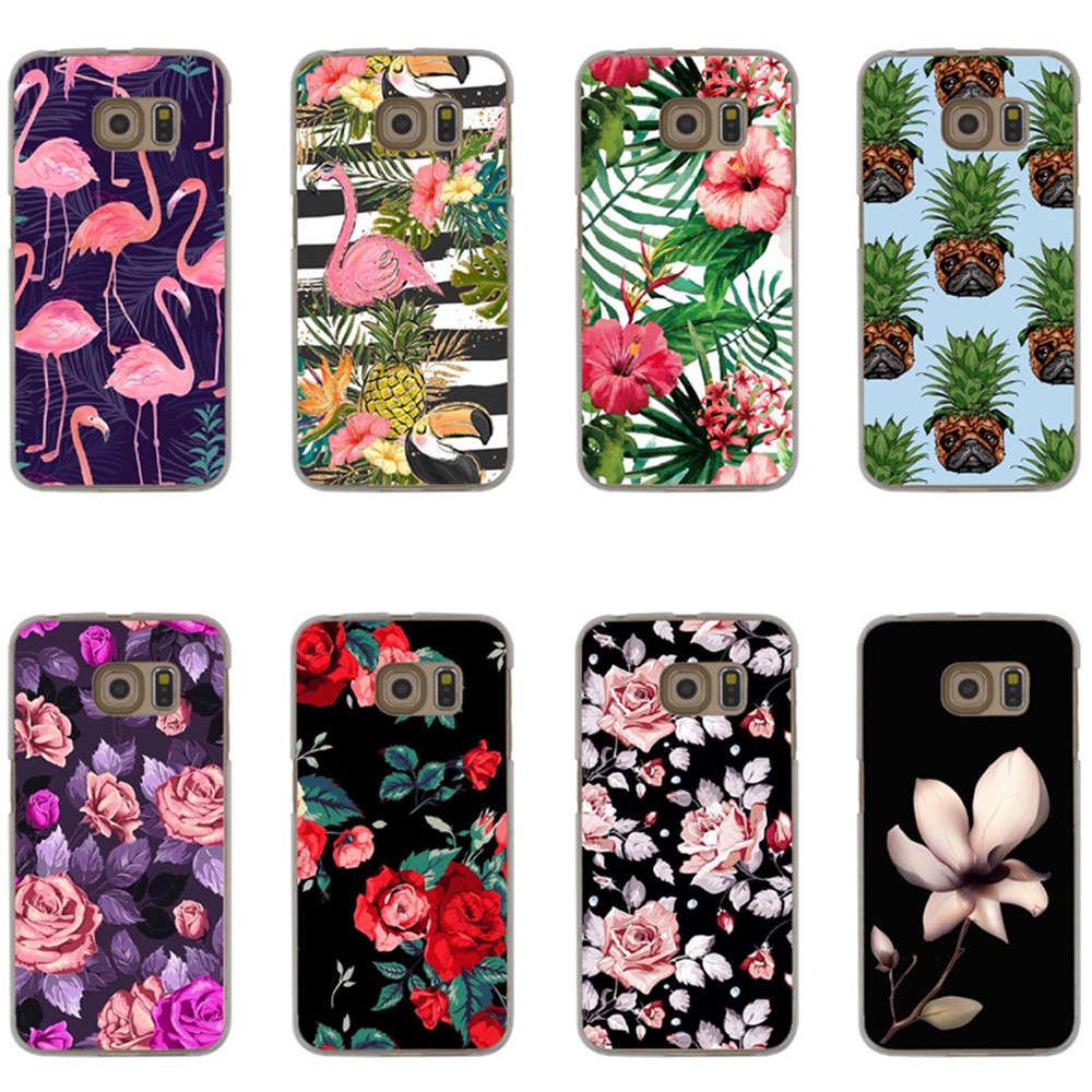 Luxury Cartoon bird Case For Samsung Galaxy Grand Prime S6 S7 Edge S8 S9 Plus J1 J5 J7 A3 A5 A7 2016 2017 Hard PC flower Cover