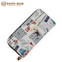 DANNY BEAR Designer Women Wallets And Purses Large Capacity Ladies Wallet Brand Long Wallet Card Holder Cute Coin Purse Clutch