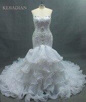 Luxurious crystals mermaid wedding dress Expensive bridal vestido de noiva robe de mariage vestido de noiva curto 2017 Customize