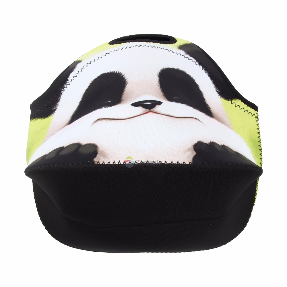 Cute Panda Thermal Insulated Neoprene Lunch Bag for Women Kids Lunchbags Tote With Zipper Cooler Lunch Box Handbag