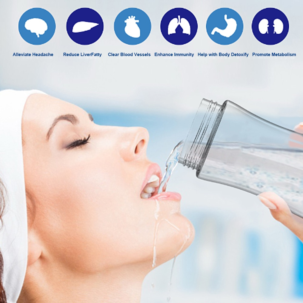 300ml Hydrogen Rich Water Bottle Alkaline Water Filter Maker Portable Ionizer Hydrogen Water Machine for Sports Travel