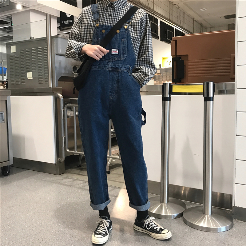 Jeans Jumpsuits Trousers Overall-Pants Pinafore Dungaree Baggy Denim Women Full-Length title=