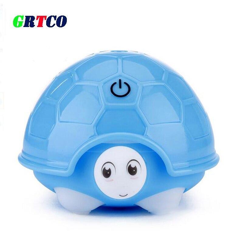 GRTCO 160ML Lovely Cartoon Tortoise Mini Portable Usb Air Ultrasonic Humidifier DC 5V Room LED Air Diffuser Mist Maker Fogger