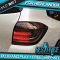 AKD Car Styling for HIGHLANDER TAIL Lights LED Tail Light LED Rear Lamp DRL+Brake+Reversing+Signal LIGHT Automobile Accessories