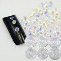 Nova Chegada ss3-ss10 120 pcs/Garrafa de Cristal AB cor FlatBack 3D Decorações Nail Art Natator Pedrinhas NC395