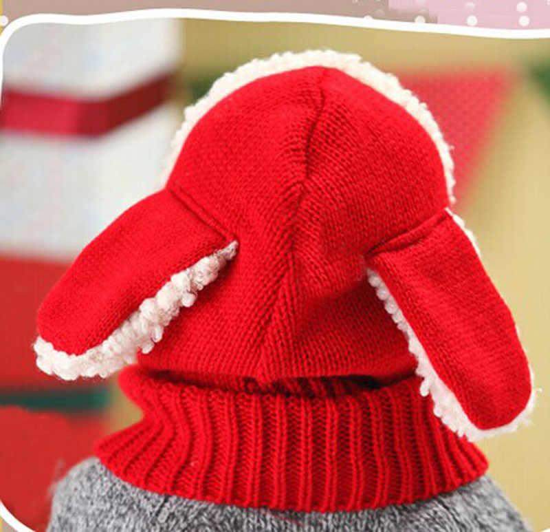 หมวกเด็กน่ารักเด็กวัยหัดเดินหมวกถักหมวกเด็กเด็กหมวกเด็กหมวก Coif Hood ถักผ้าพันคอขนสัตว์หมวกฤดูหนาว Warm หมวก Lamb หมวกขนสัตว์