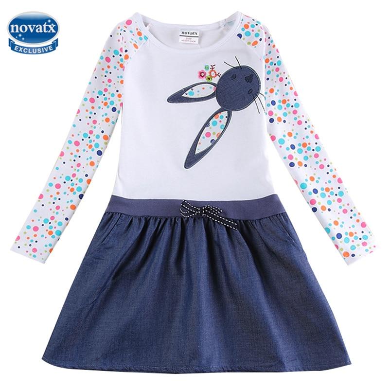 Платье для маленьких девочек Детские платья с длинными рукавами для девочек детская одежда зимние вечерние Nova/платья для девочек H5922 ...