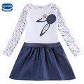 Vestido del bebé de manga larga niños vestidos para niñas niños ropa de niños ropa para niños ropa de invierno partido nova niñas vestido h5922