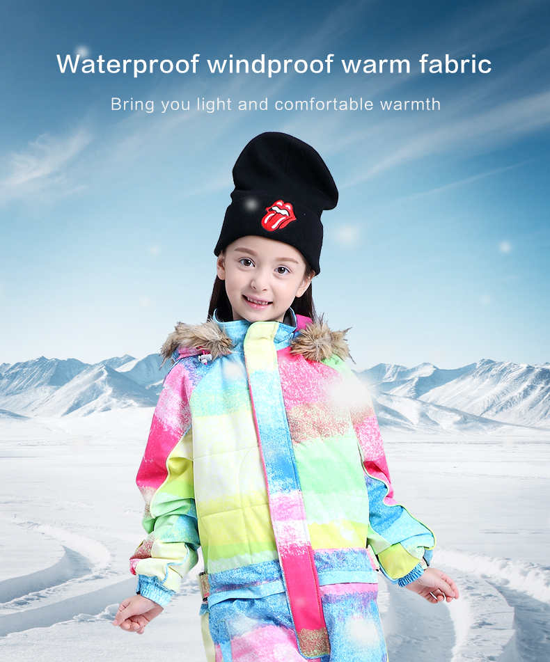19 лыжных костюмов bluemagic для детей, водонепроницаемый комбинезон для прогулок на открытом воздухе для девочек и мальчиков, куртка для сноуборда Водонепроницаемый Лыжный комбинезон-30 градусов