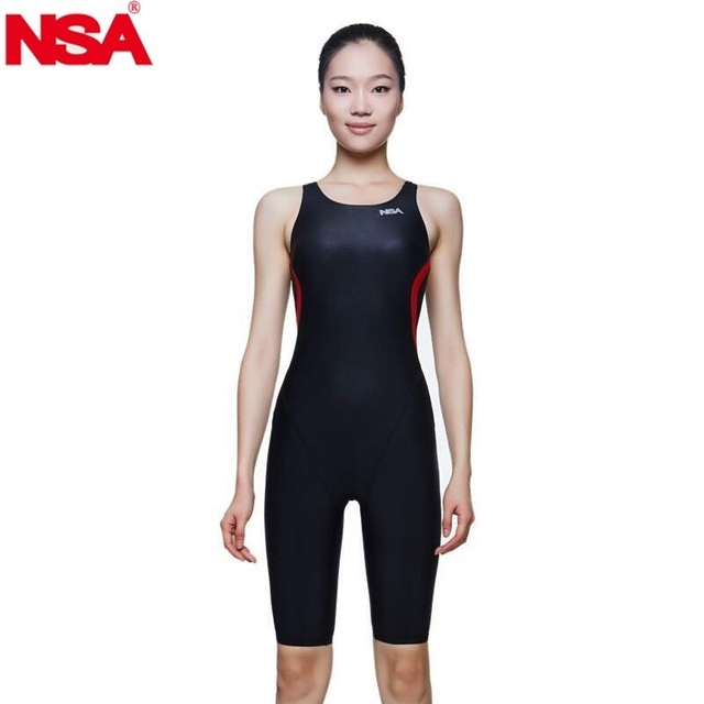 d0d3b8726d NSA competition italy fabric knee length women's training swimwear girls  kids racing one piece swimsuits athletic women swimwear