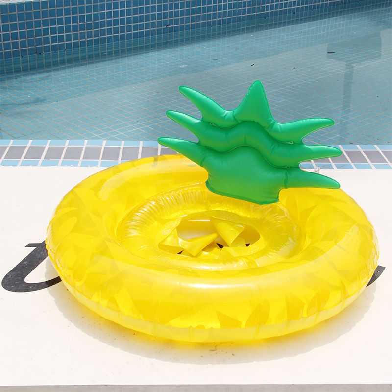 Pineapple Pool Float Inflatable Swimming Ring Giant Adult Swimming Float Life Buoy Swimming Circle Summer Water Play Toys