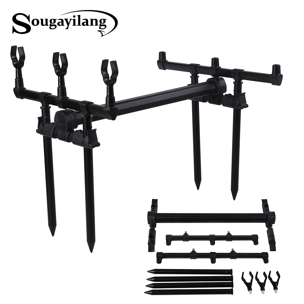 Sougayilang Fishing Rod Holder Adjustable AluminiumU Shape Fishing Rod Support Tool Rest Pole Gripper Fishing Tackles Pesca