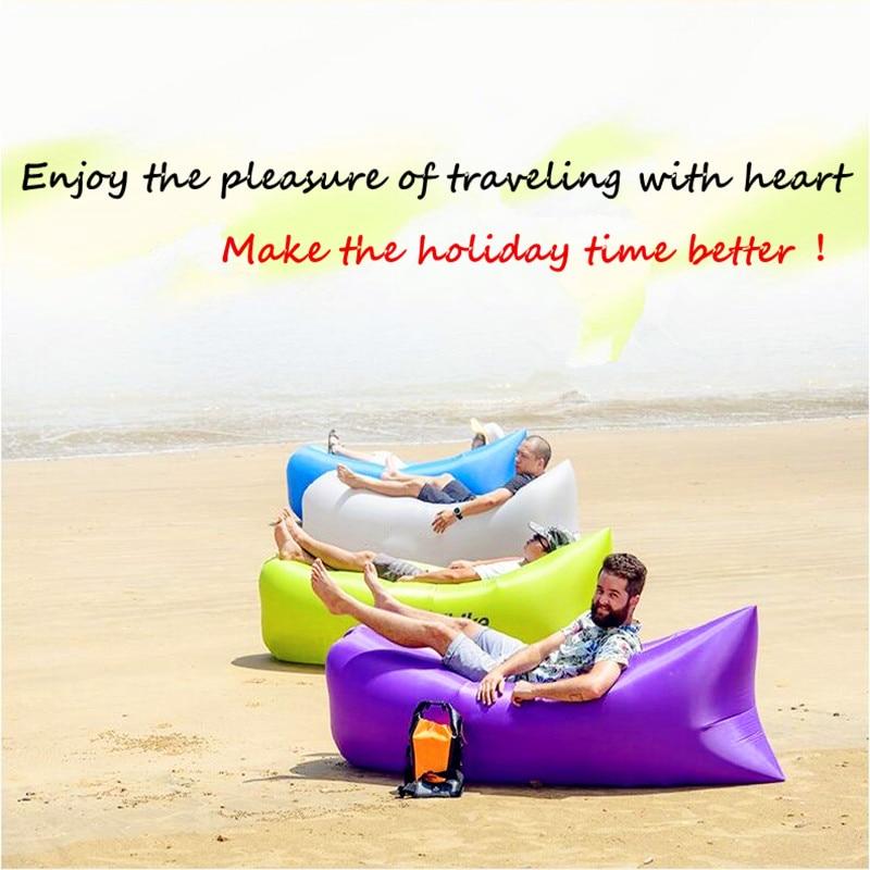 Perezoso del aire de Gas muebles sofá cama perezoso sol playa Parque dormir aire gonflable aire envío impermeable