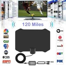 120 Miles TV Antena Digital HDTV Indoor Antenna with Amplifier Signal Booster Radius Surf Fox HD Antennas Aerial