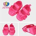 JENNY niño recién nacido bebé cordón de las muchachas del color sólido primer caminante niños niños bebé princesa suela blanda zapatos de bebé de 0-1 años de edad
