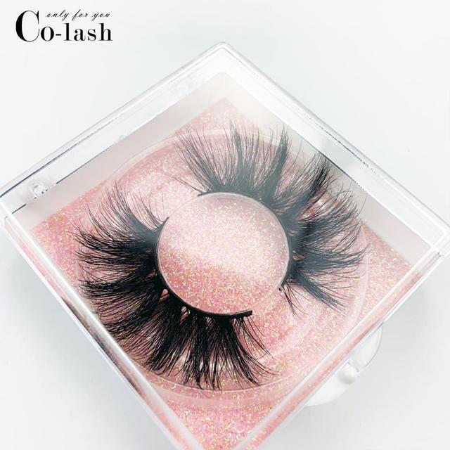 Colash Custom box Mink Eyelashes Thick Natural Long False Eyelashes High Volume Mink Lashes Soft Dramatic Eye lashes New Makeup 5