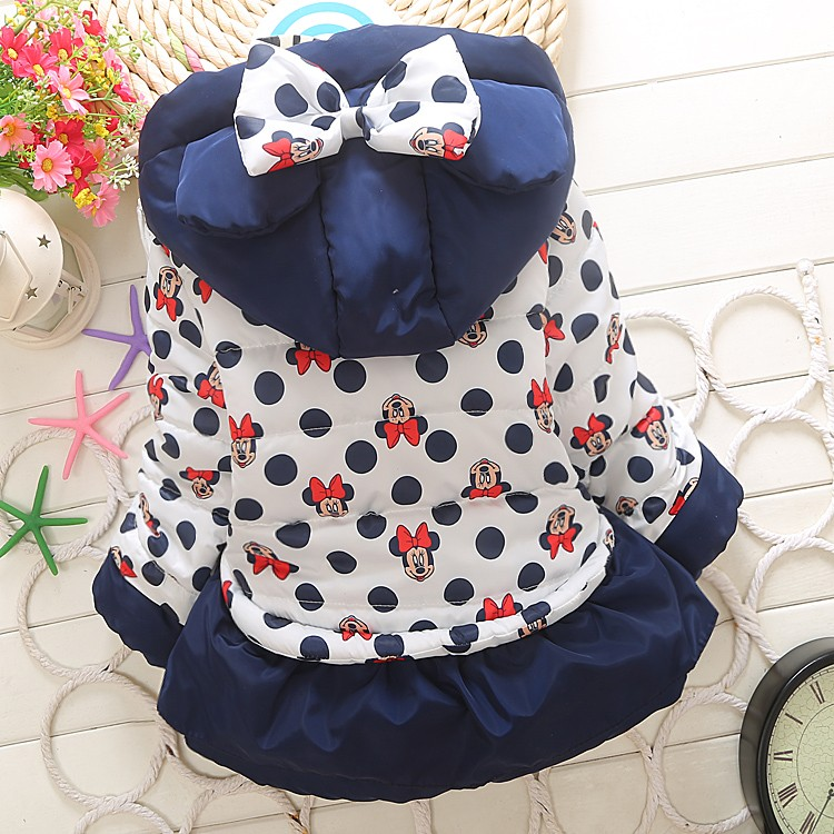 Girls jackets fashion Minnie cartoon Clothing coat baby girl winter warm and casual Outerwear for 1-4 years old Kids jackets