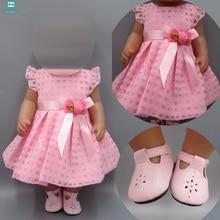 Детская кукольная одежда для 43-45 см игрушка новорожденная кукла и американская кукла розовое платье вечернее платье принцессы