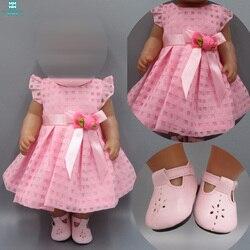 Детская Одежда для кукол, 43-45 см, игрушка для новорожденных и американская кукла, розовое платье, вечернее платье, платье принцессы