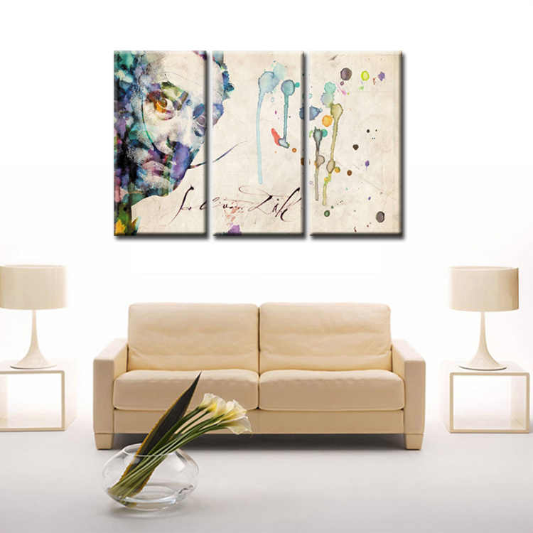 3 Pieces/set Abstract poster series Canvas Painting living room Room Decoration Print Canvas Pictures Framed/Abstract (65)