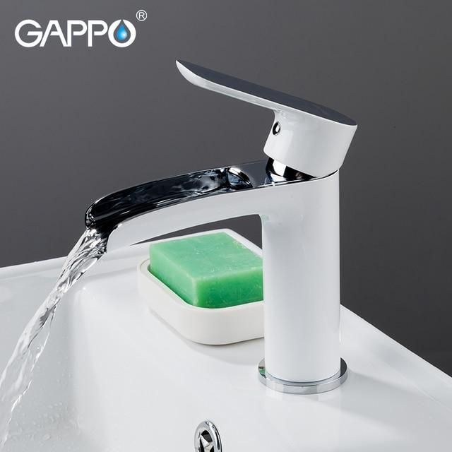 GAPPO Basin Faucets bathroom tap basin mixer white sink faucet tap chrome waterfall faucet tap washbasin bath faucet brass mixer