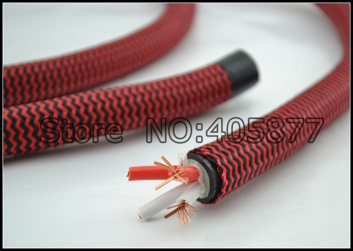 High End Audio Grade MCA 166B-1 Flat OFC Speaker cable 7N Speaker cable DIY